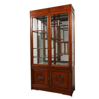 Chinese Antique Rosewood Display Cabinet For Sale