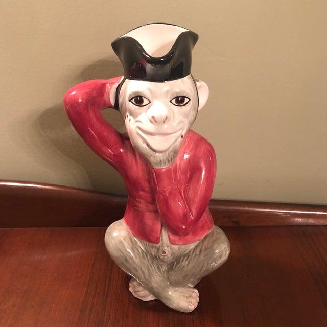 1970s Mottehedah Monkey Pitcher For Sale - Image 9 of 9