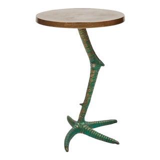 Jennifer End Table, Antique Brass For Sale