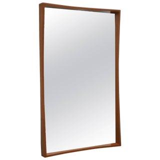Midcentury Teak Wall Mirror by Pedersen & Hansen For Sale