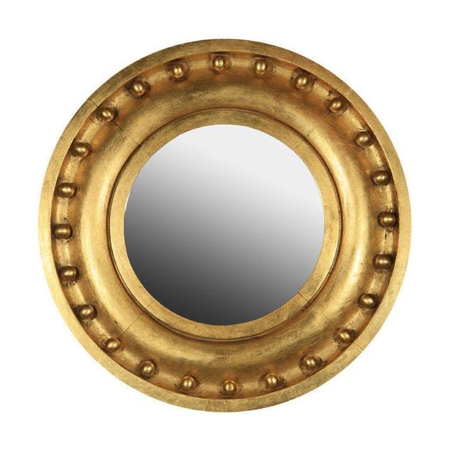 Antique Circular Gilded Mirror For Sale