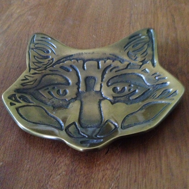 Vintage Brass Fox Catch All Tray - Image 10 of 11