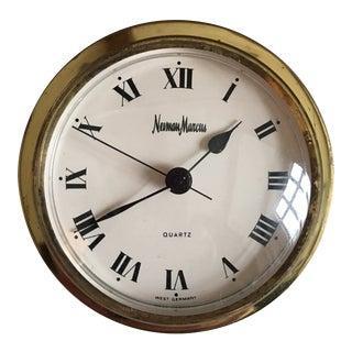 Neiman Marcus Brass Clock For Sale