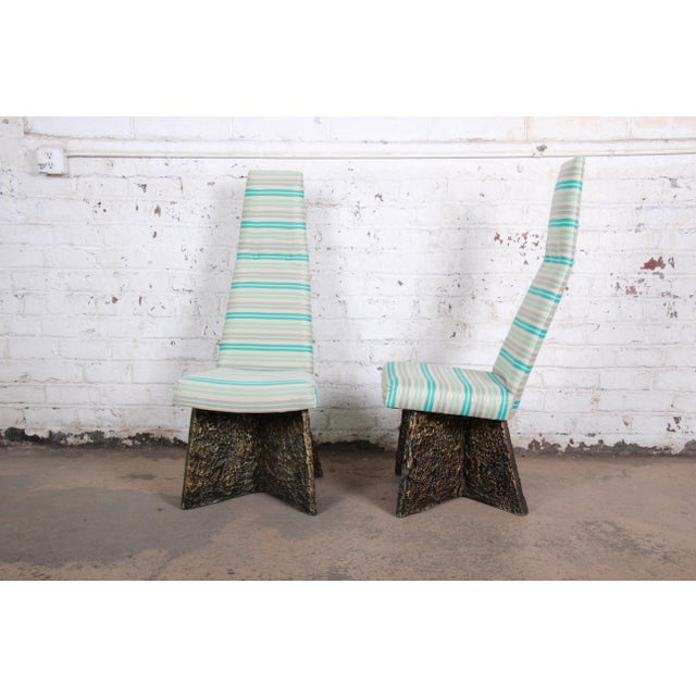 Adrian Pearsall Mid-Century Brutalist High Back Dining Chairs - Set of 4 For Sale - Image 9 of 13