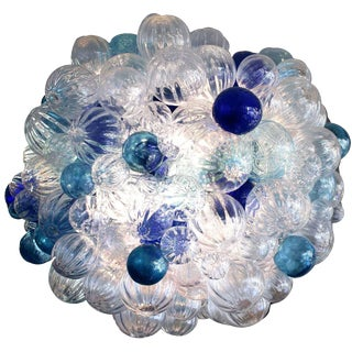 Custom Large Bubble Glass Chandelier For Sale
