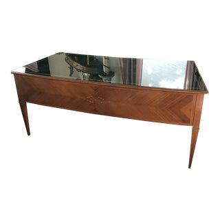 1950s Mid-Century Modern Executive Italian Writing Desk For Sale