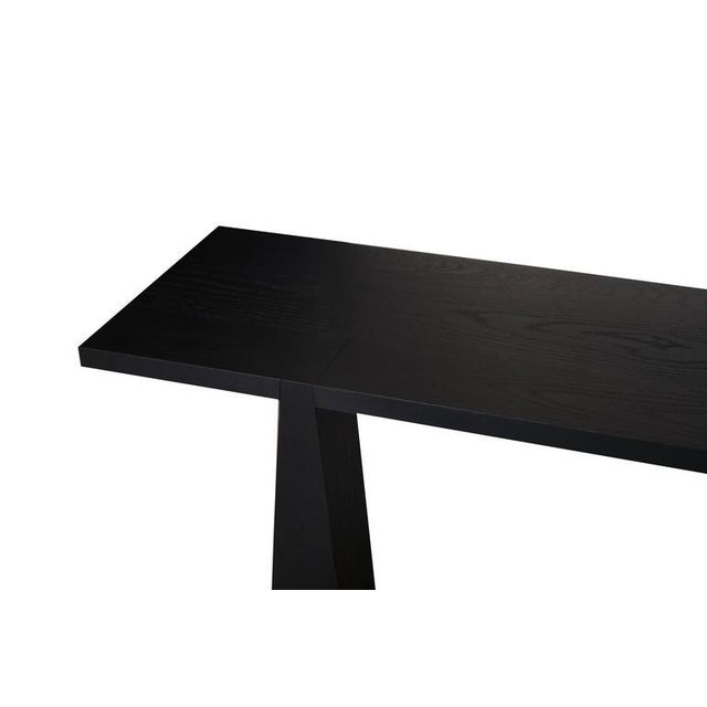 Nylander Solid Oak Console Table For Sale - Image 4 of 4