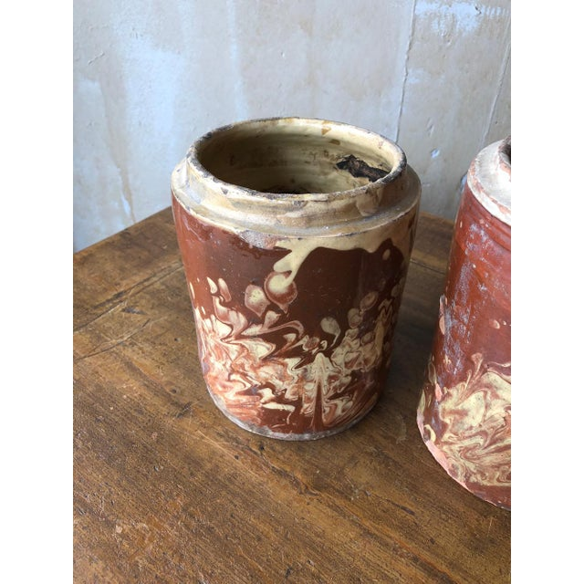White Antique Pugliese Marbleized Canister For Sale - Image 8 of 10