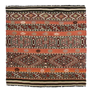 Mid-Century Turkish Sofreh Kilim | 3'3 X 3'3 For Sale