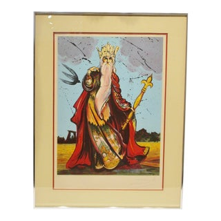 "1973 Original ""Moise"" (Moses) Limited Edition Pencil Signed Lithograph by Salvador Dali For Sale"