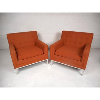 Mid-Century Modern Knoll Style Lounge Chairs - a Pair Preview