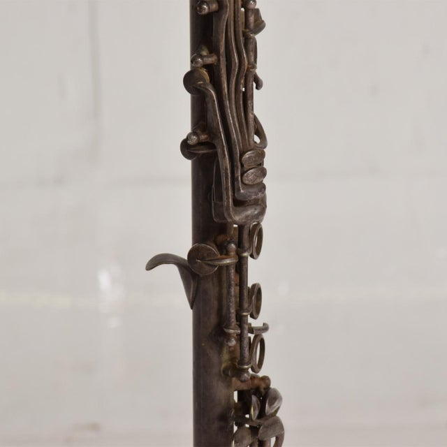 1910s Antique Decorative European Clarinet Oboe Sterling Silverplated 38526 For Sale - Image 5 of 11