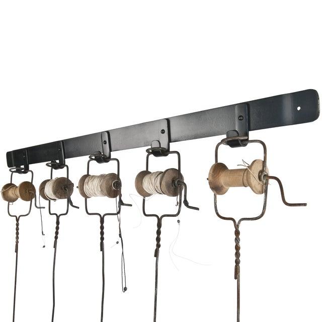 Five Vintage Handmade Ice Fishing Poles - Image 3 of 4