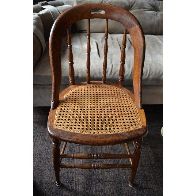 Brown Dining Room Chairs With Caned Seats. Victorian Windsor Bow Back Style. Set of 8. For Sale - Image 8 of 13