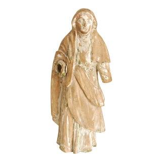 Antique Carved Wood Santos Statue For Sale