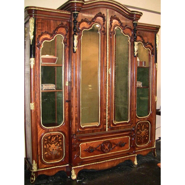 19c French Neo-Classical Revival Style Vitrine - Imposing Piece For Sale - Image 4 of 12