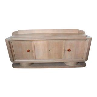 French Limed Oak Sideboard, Manner of Adnet For Sale