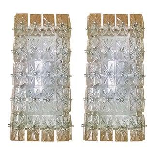 Large Austrian Crystal Kinkeldey Wall Lights - a Pair For Sale