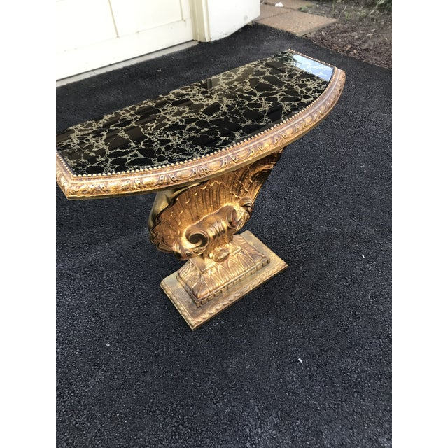 Mid-Century Modern Vintage Grosfeld House Shell Console Table For Sale - Image 3 of 12