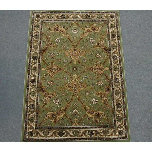 Persian Traditional Green Rug - 8′ × 11′ - Image 2 of 6