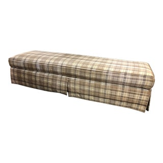 Thomasville Tan Upholstered Bench For Sale