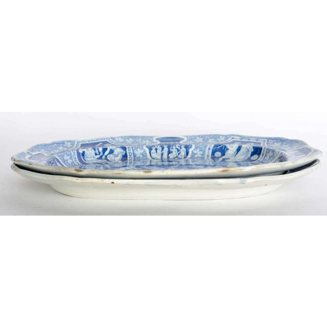 """Neoclassical Two Large Spode """"Greek"""" Platters, England, Early 19th Century For Sale - Image 3 of 9"""