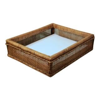 Woven Rattan Desk Tray For Sale