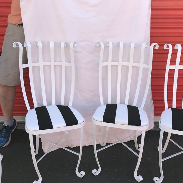 Vintage Metal Outdoor Chairs - Set of 4 - Image 3 of 11