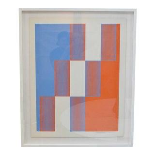 """1970s Framed Richard Anuszkiewicz """"Celebrate New York"""", 1973 For Sale"""