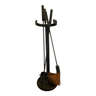 Restoration Hardware Modern Fireplace Tools--Set of Five (5) For Sale