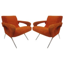 Image of Burnt Orange Accent Chairs