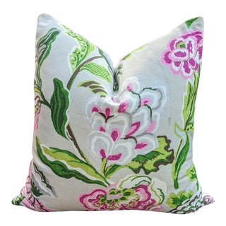 Thibaut Navesink Floral Pillow Cover For Sale