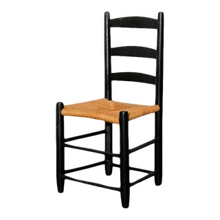 Small Early American Ladderback Side Chair For Sale