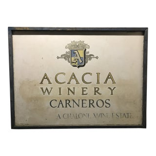 1980s Giant Original Hand-Painted Acacia Winery Billboard Sign For Sale