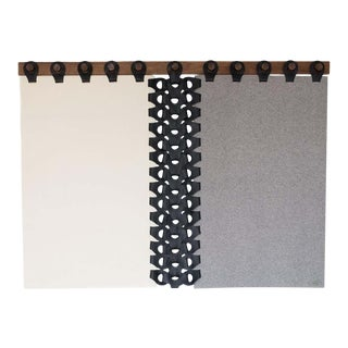 Vertebrae Headbord Tapestry in Grey, Cream and Black by Moses Nadel For Sale