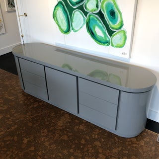 Contemporary Grey Lacquer Credenza Preview