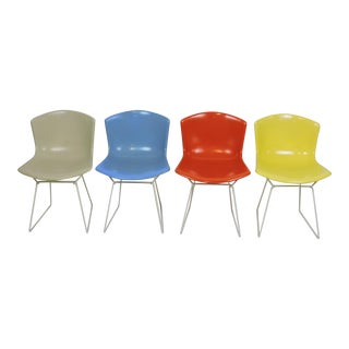 Harry Bertoia Molded Shell Side Chairs for Knoll - Set of 4 For Sale