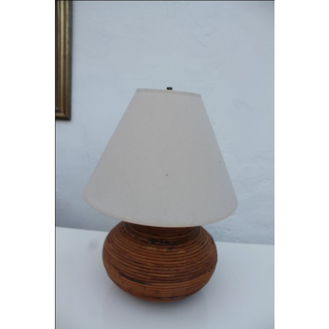 Vintage Pencil Reed Jar Table Lamp For Sale - Image 9 of 9