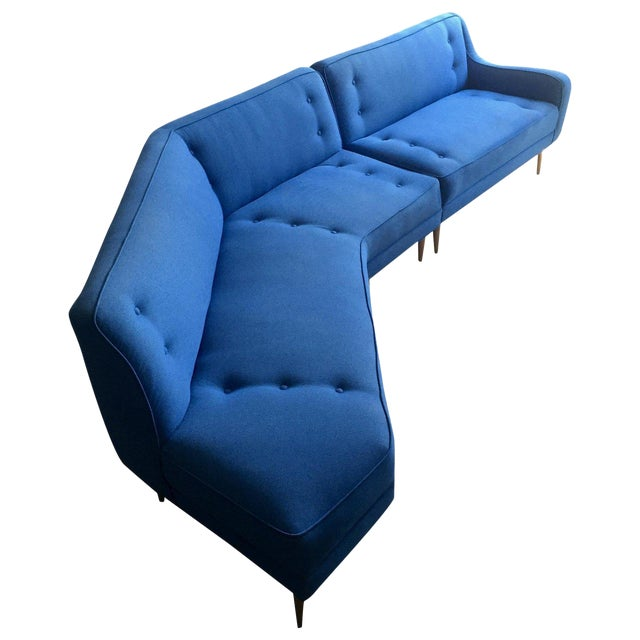 1950s Vintage Mid-Century Modern Sectional Sofa For Sale