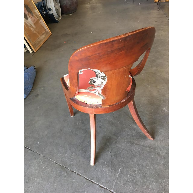 Streamline Art Deco Mahogany Side Chairs, Set of Two For Sale - Image 4 of 6