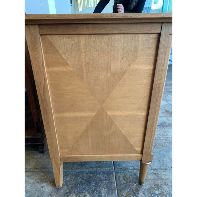 Mid Century Modern Burl Wood Credenza With Inset Marble Top - American of Martinsville For Sale - Image 11 of 12