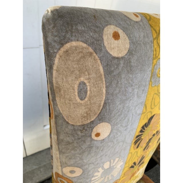Textile Jack Lenor Larsen Velvet Dining Chairs - Set of 4 For Sale - Image 7 of 12