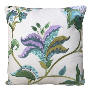Embroidered Linen Down / Feather Pillow For Sale