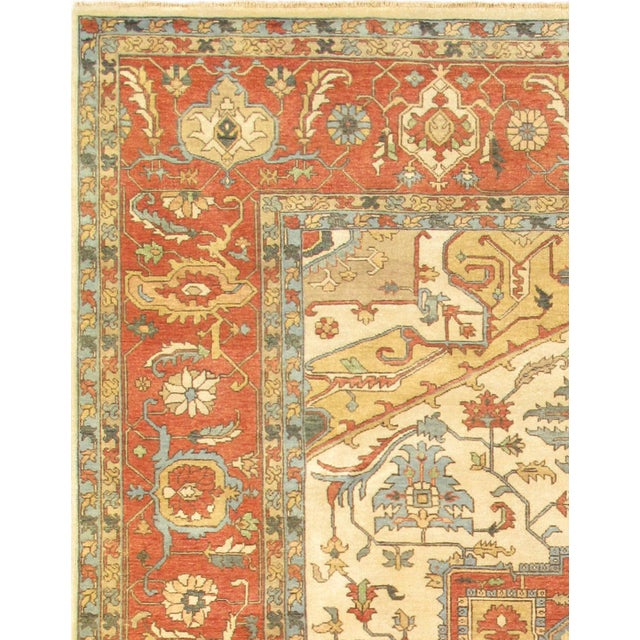 "Transitional Modern Pasargad Turkish Serapi Collection Wool Area Rug- 8' 1"" X 10' 1"" For Sale - Image 3 of 5"