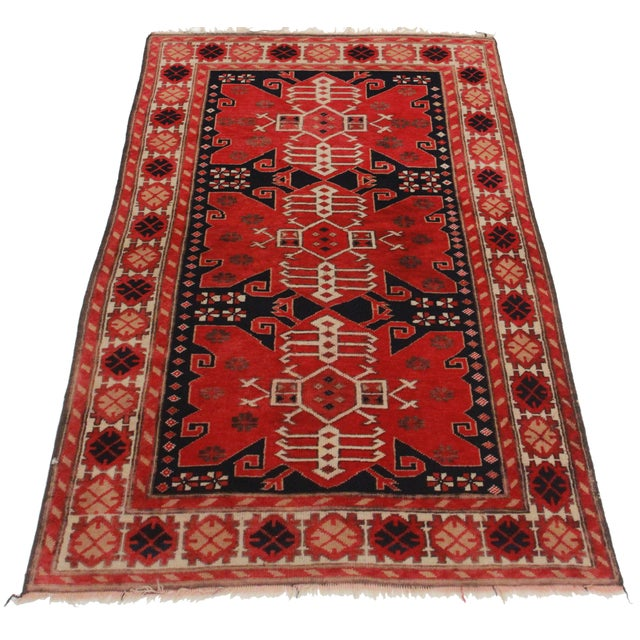 RugsinDallas Antique Turkish Area Rug - 3′5″ × 6′7″ - Image 2 of 2