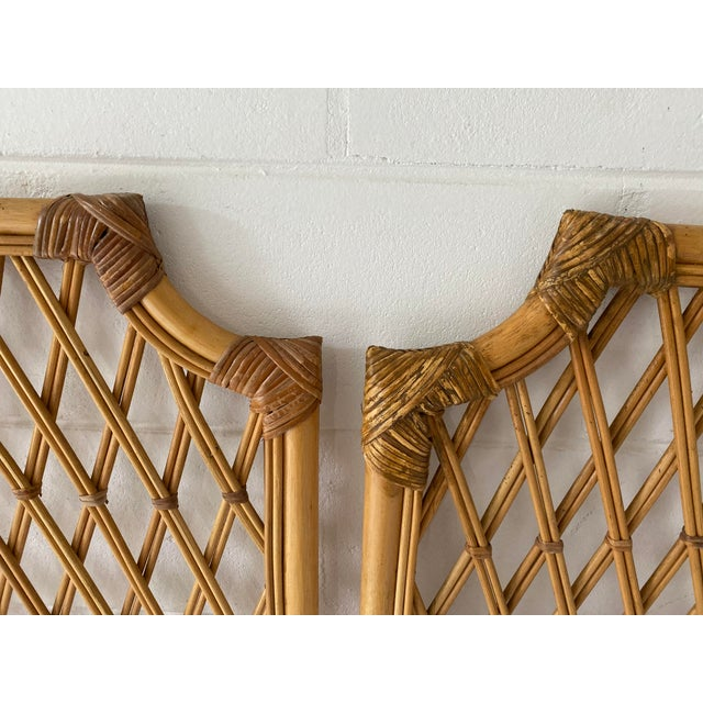 Vintage Rattan Headboards- a Pair For Sale - Image 4 of 13