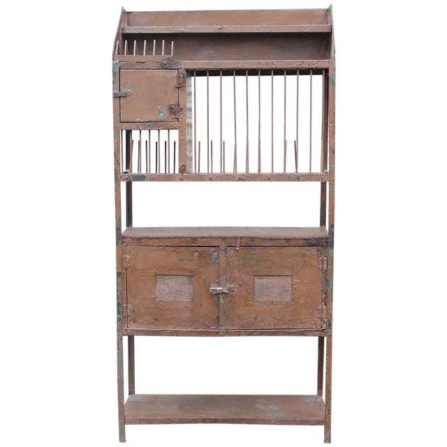 Vintage Industrial Brown Iron Rack - Image 1 of 5