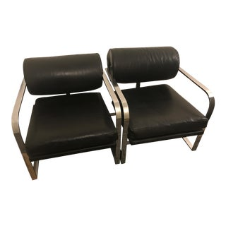 1990s Vintage Milo Baughman for Thayer Coggin Chairs- a Pair For Sale