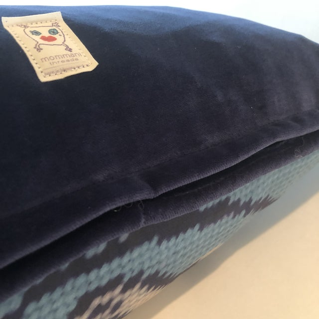 "Staffordshire Blue 20"" Custom Blended Down Floor Pillow For Sale - Image 9 of 11"