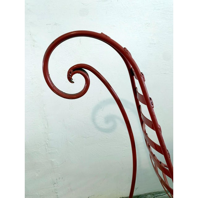 Iron Spine Chair Attributed to Andre Dubreuil For Sale - Image 9 of 11